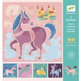 Djeco - Stencils Horses