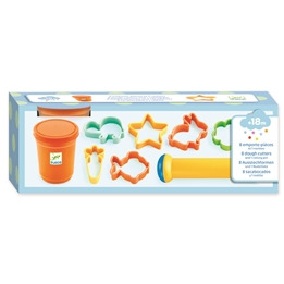 Djeco - Lera - 8 Cookie Cutters + 1 Rolling Pin