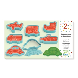 Djeco - Vehicles 6 Moulds + 6 Stamps