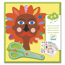 Djeco - Pyssel - Stickers Hairdresser