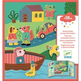 Djeco - Pyssel - Stickers - Animals