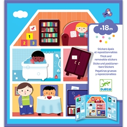 Djeco - Pyssel - Stickers - House