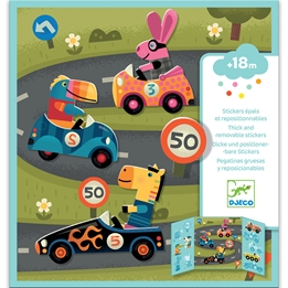 Djeco - Pyssel - Stickers - Cars