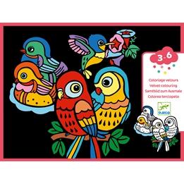 Djeco - Coloring velvet, Baby birds