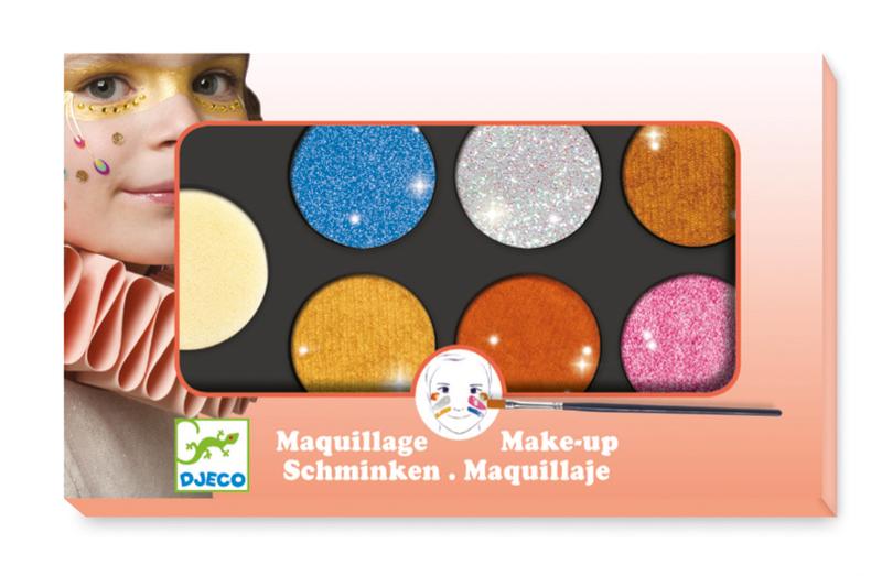 Djeco - Make-Up, Paint Set Metallic