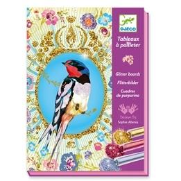 Djeco - Skapa Med Glitter - Fåglar