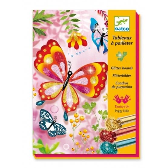 Djeco - Glitter Butterflies