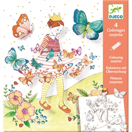 Djeco - Pyssel - Colouring Lady Butterfly