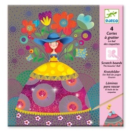 Djeco - Pyssel - Scratch Card - The Beauties Ball