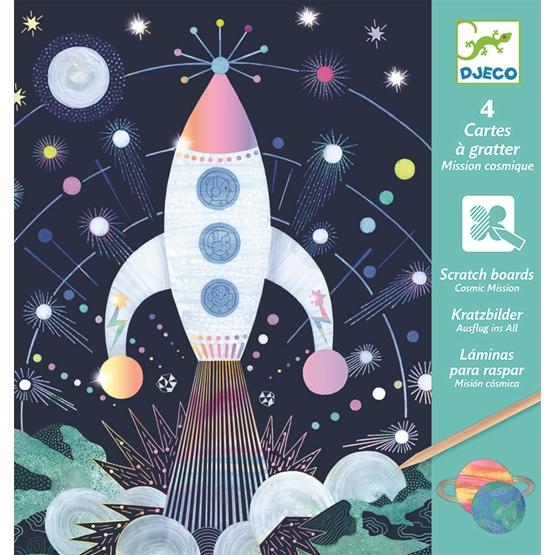 Djeco - Pyssel - Scratch card, Cosmic mission
