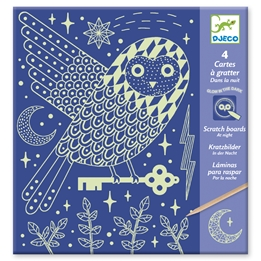 Djeco - Pyssel - Scratch Card At Night