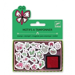 Djeco - Stämplar - Mini Stamps - Ladybirds And Butterflies