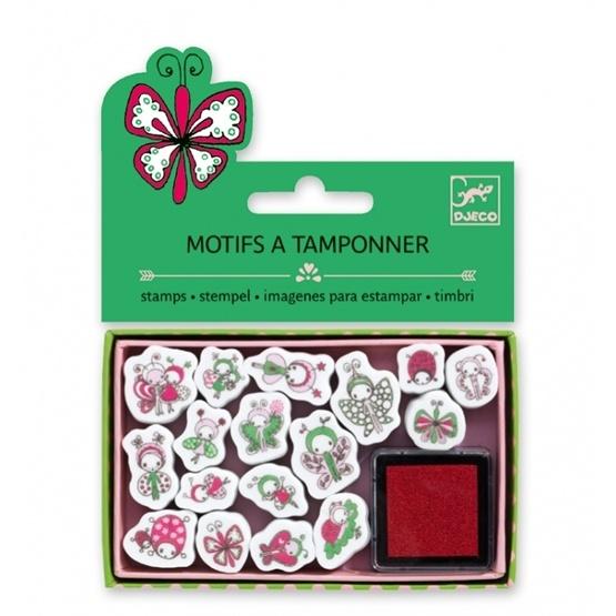 Djeco - Stämplar - Mini Stamps - Ladybirds And Butterflies