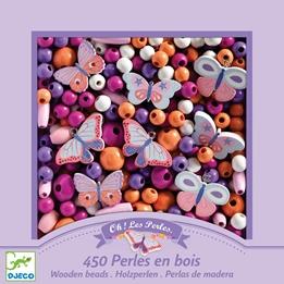 Djeco - Pärlor - Wooden Beads Butterflies