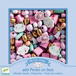 Djeco - Pyssel - Wooden beads, Rainbow