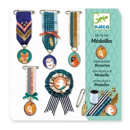 Djeco - Sewing - Brooches