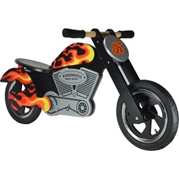 Kiddimoto - Balanscykel Flames Chopper