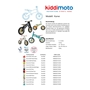 Kiddimoto - Balanscykel - Stars