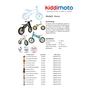Kiddimoto - Balanscykel - Fleur