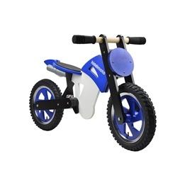 Kiddimoto - Balanscykel Scrambler Motocross Blå/Vit