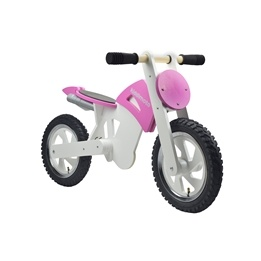 Kiddimoto - Balanscykel Scrambler Motocross Rosa/Vit