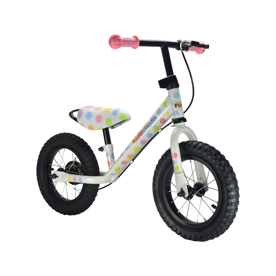 Kiddimoto - Balanscykel - Super Junior Max - Pastel Dotty