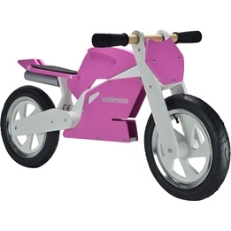 Kiddimoto - Balanscykel - Superbike Rosa/Vit