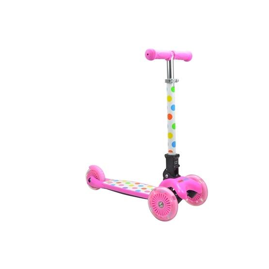 Kiddimoto - Sparkcykel U-Zoom - Fällbar - Pastel Dotty