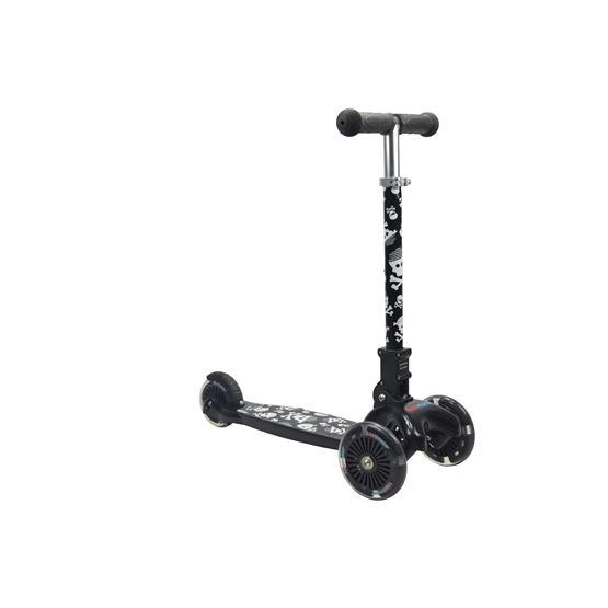 Kiddimoto - Sparkcykel U-Zoom - Fällbar - Skullz