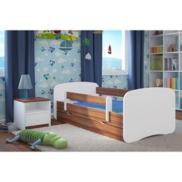 EuroToys - Juniorsäng - Mörk - låda och madrass 180x80 cm