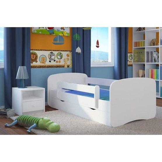 EuroToys - Barnsäng - Vit med förvaring och madrass