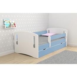 EuroToys - Juniorsäng Blå - låda och madrass 180x80 cm
