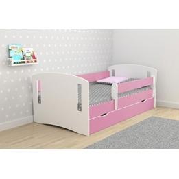 EuroToys - Juniorsäng Rosa - låda och madrass 180x80 cm