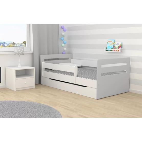 """EuroToys - Barnsäng """"klassisk"""" vit med förvaring och madrass 160x80 cm"""