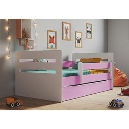EuroToys - Juniorsäng Rosa - låda och madrass 160x80 cm