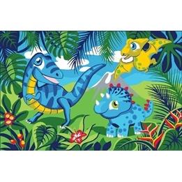 EuroToys - Barnmatta - Dinosaurier - 120 x 80 cm