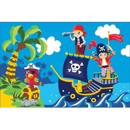 EuroToys - Barnmatta - Pirater - 120 x 80 cm