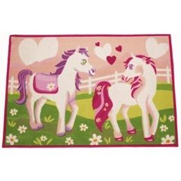 EuroToys - Barnmatta - Hästar - 120 x 80 cm
