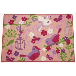 EuroToys - Barnmatta - Fåglar i skogen - 120 x 80 cm