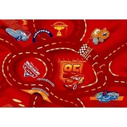 Disney - Barnmatta - Cars Röd - 133 x 95 cm