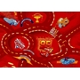Disney - Barnmatta - Blixten McQuenn Bilmatta - Röd - 133 x 95 cm
