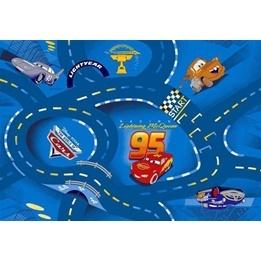 Disney - Barnmatta - Cars Blå - 133 x 95 cm