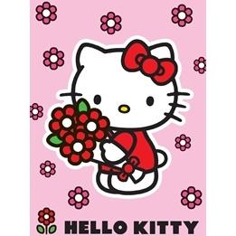 EuroToys - Barnmatta - Hello Kitty - Blommor - 133 x 95 cm