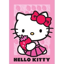 Disney - Barnmatta - Hello Kitty - Jordgubbe - 133 x 95 cm