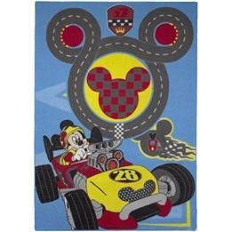 Disney - Barnmatta - Musse Pigg Bilbana - 133 x 95 cm