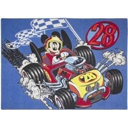 Disney - Barnmatta - Musse Pigg Racerbil - 133 x 95 cm