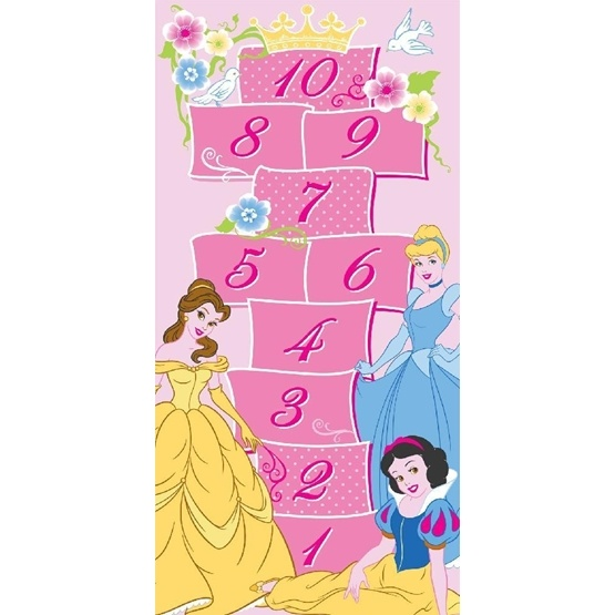 Disney - Barnmatta - Princess Hopphage - 133 x 95 cm