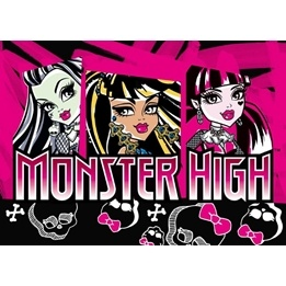 Eurotoys - Barnmatta - Monster High - Skull - 133 x 95 cm