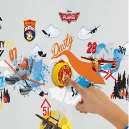 Planes - Flygplan Väggklistermärken Och Ringklocka