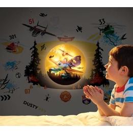 Planes - Disney Flygplan Väggklistermärke Med Lampa